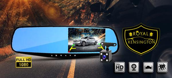 RK HD Rearview Mirror Cam Pro